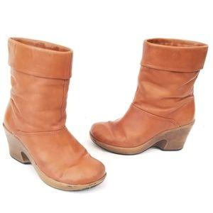 Dansko Heeled Leather Boots - size 38